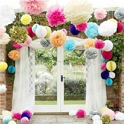 Бумажные шары для украшения зала своими руками